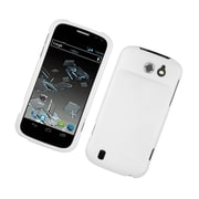 Insten Rubberized Hard Snap On Protective Case Cover For ZTE Flash - White