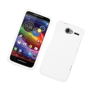 Insten Hard Snap On Back Rubber Protective Case Cover For Motorola Electrify M - White