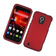 Insten Rubberized Hard Snap On Protective Case Cover For ZTE Majesty / Source - Red