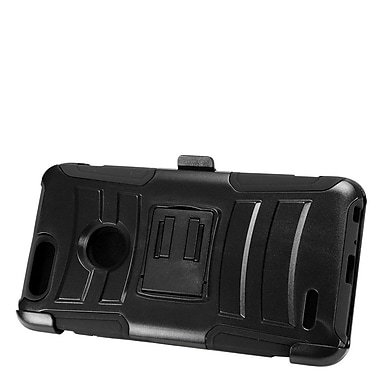 Insten Advanced Armor Hybrid Stand Hard PC/Silicone Holster Case for ZTE Sequoia - Black