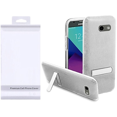 Insten Hybrid Glitter Kickstand Case Cover Package For Galaxy Amp Prime 2/Express Prime 2/J3 (2017) - Silver/Clear
