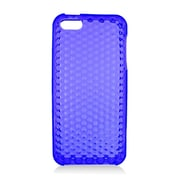 Insten TPU Rubber Hexagonal Transparent Skin Gel Case Cover For Apple iPhone 5 / 5S - Blue
