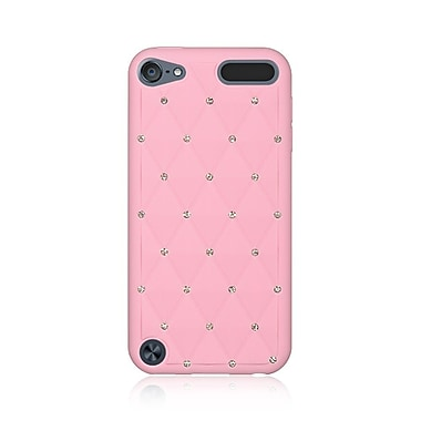 Insten Diamond Bling Silicone Skin Rubber Gel Case Cover For Apple iPod Touch 5th Gen / 6th Gen - Pink