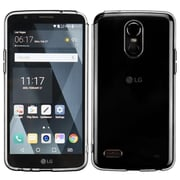 Insten Glassy Transparent SPOTS TPU Candy Rubber Skin Case For LG Stylo 3 / Stylo 3 Plus - Clear