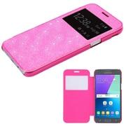 Insten Glittering MyJacket Hard Flip Case For Samsung Galaxy Amp Prime 2/Express Prime 2/J3 (2017) - Electric Pink