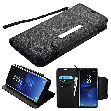 Insten MyJacket Wallet Leather Card Stand Flip Case For Samsung Galaxy S8 - Black