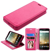 Insten MyJacket Wallet Leather Card Stand Flip Case with Tray For ZTE Prestige 2 N9136 - Hot Pink