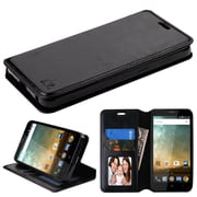 Insten MyJacket Wallet Leather Card Stand Flip Case with Tray For ZTE Prestige 2 N9136 - Black