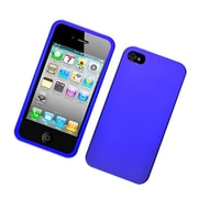 Insten Hard Snap On Back Rubber Protective Case Cover For Apple iPhone 4 / 4S - Blue