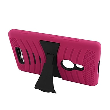 Insten Wave Symbiosis Stand Hybrid Silicone/Hard PC Case Cover For Nokia Lumia 925 - Hot Pink/Black