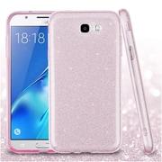 Insten Full Glitter Hybrid Dual Layer Protective Case For Samsung Galaxy J7 (2017) / J7 Perx / J7 Sky Pro / J7 V - Pink