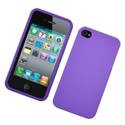 Insten Hard Snap On Back Rubber Protective Case Cover For Apple iPhone 4 / 4S - Purple