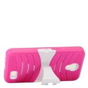 Insten Wave Symbiosis Skin Hybrid Rubber Hard Case w/stand For ZTE Prestige 2 N9136 - Pink