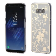 Insten Phoenixtail Flowers Electroplating Transparent TPU Gummy Case Cover For Samsung Galaxy S8+ S8 Plus - Silver