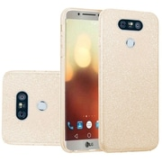 Insten Glitter Hybrid Clear Hard PC/TPU Dual Layer Case Cover For LG G6 - Gold