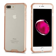 Insten TPU Rubber Candy Skin Case Cover for Apple iPhone 7 Plus - Clear/Rose Gold