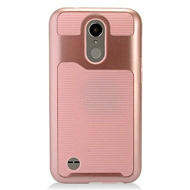 Insten Slim Hybrid Hard PC/TPU Dual Layer Case Cover For LG Harmony / K10 (2017) / K20 Plus / K20 V - Rose Gold/Pink
