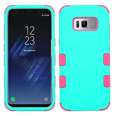 Insten TUFF Shock Absorbing Hybrid PC/TPU Dual Layer Case For Samsung Galaxy S8 - Teal Green/Electric Pink