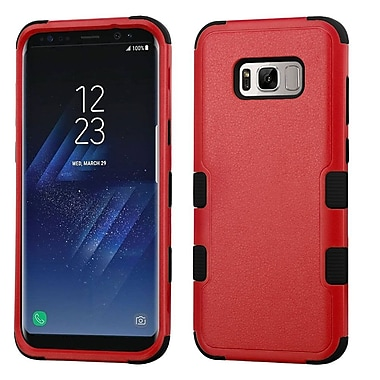 Insten TUFF Hybrid Shock Absorbing Hard PC/Silicone Case Cover For Samsung Galaxy S8 - Natural Red/Black