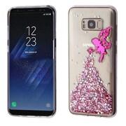 Insten Fairy 3D Glitter (T-Clear) Krystal Gel Series TPU Candy Skin Case For Samsung Galaxy S8+ S8 Plus - Hot Pink/Clear