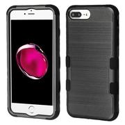 Insten Brushed TUFF Hybrid Hard PC Phone Shockproof Case Cover for Apple iPhone 7 Plus / 6s Plus / 6 Plus - Black