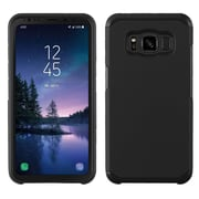 Insten Astronoot Dual Layer Hybrid PC/TPU Rubber Case Cover for Samsung Galaxy S8 Active - Black