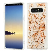 Insten Flakes TPU Rubber Candy Skin Case Cover for Samsung Galaxy Note 8 - Rose Gold