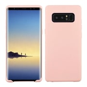 Insten TPU Rubber Candy Skin Case Cover for Samsung Galaxy Note 8 - Rose Gold