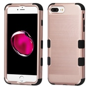 Insten Brushed TUFF Hybrid Hard PC Phone Shockproof Case for Apple iPhone 7 Plus / 6s Plus / 6 Plus - Rose Gold/Black