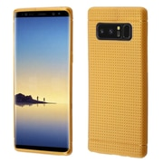 Insten Lattice Points TPU Rubber Candy Skin Case Cover for Samsung Galaxy Note 8 - Gold