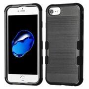 Insten Brushed TUFF Hybrid Hard PC Phone Shockproof Case Cover for Apple iPhone 7 / 6s / 6 - Black