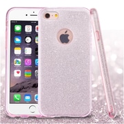Insten Pink Full Glitter Hybrid Hard PC/TPU Dual Layer Protective Case Cover For Apple iPhone 6s Plus / 6 Plus