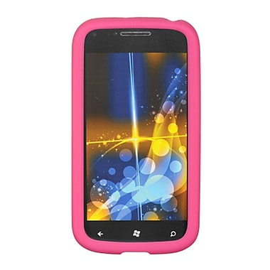 Insten SIlicone Skin Back Soft Rubber Gel Case Cover For Samsung Focus 2 - Hot Pink
