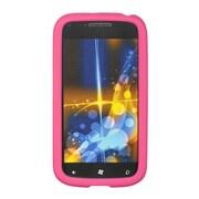 Insten SIlicone Skin Back Soft Rubber Gel Case Cover For Samsung Focus 2 - Hot Pink