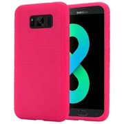 Insten Rugged Rubber Silicone Skin Gel Soft Case Cover For Samsung Galaxy S8+ S8 Plus - Hot Pink