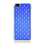 Insten Chrome Spot Diamond Bling Hard Snap On Case Cover For Apple iPhone 5 / 5S - Blue
