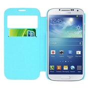 Insten Smart Cover Leather Flip Case Cover with Call Activate For Samsung Galaxy S4 - Teal