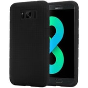 Insten Rugged Rubber Silicone Skin Gel Soft Case Cover For Samsung Galaxy S8+ S8 Plus - Black