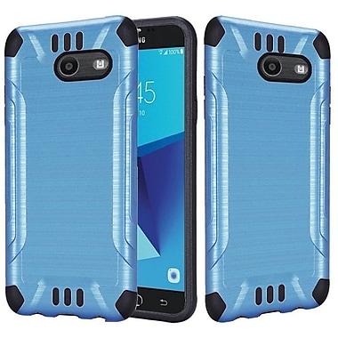 Insten Slim Armor Brushed Metal Hybrid PC/TPU Case Cover For Samsung Galaxy J7 (2017) - Blue/Black