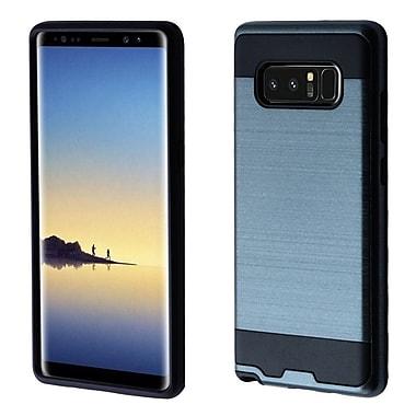 Insten Hard Hybrid Brushed TPU Case For Samsung Galaxy Note 8 - Grayish Blue/Black