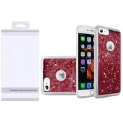 Insten Liquid Quicksand Glitter Fused Flexible Hybrid Case with Package For Apple iPhone 6s Plus / 6 Plus - Hot Pink