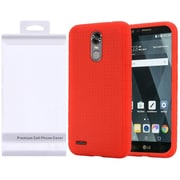 Insten Rubber Silicone Skin Gel Case Cover with Package For LG Stylo 3 - Red