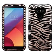 Insten TUFF [Shock Absorbing] Hybrid PC/Silicone Cover Case For LG G6 - Zebra Skin/Black/Rose Gold