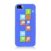 Insten Checker Rubber Silicone Skin Gel Back Case Cover For Apple iPhone 5 / 5C / 5S - Blue