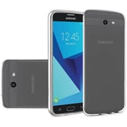 Insten Frosted TPU Rubber Candy Skin Gel Back Shell Case For Samsung Galaxy J7 (2017) / Sky Pro - Clear