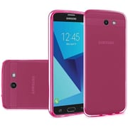 Insten Frosted TPU Rubber Candy Skin Gel Back Shell Case For Samsung Galaxy J7 (2017) / Sky Pro - Hot Pink