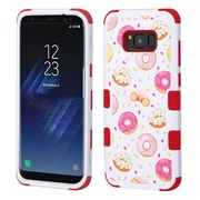 Insten TUFF [Shock Absorbing] Hybrid PC/Silicone Cover Case For Samsung Galaxy S8+ S8 Plus - Donuts/Red