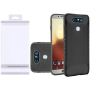 Insten Q Hybrid Dual Layer Slim Armor Hard PC/Silicone Case Cover with Package For LG G6 - Black