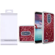 Insten Liquid Quicksand Glitter Fused Hybrid Hard PC/TPU Case with Package For ZTE N9136 - Hot Pink