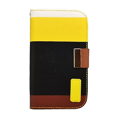 Insten Multicolor Leather Wallet Flip Card Pouch Case Cover For Samsung Galaxy S3 - Black/Yellow